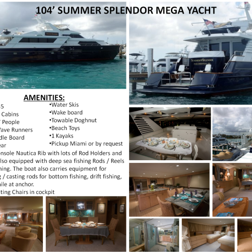 104' Summer Splendor Mega Yacht