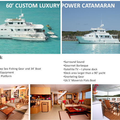 60' Custom Luxury Power Catamaran