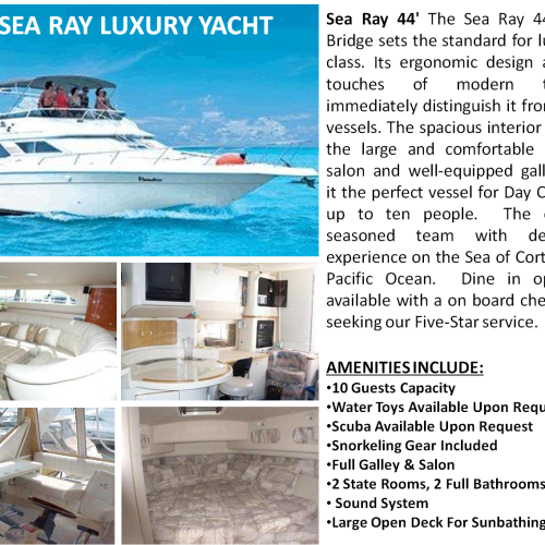 44' SEA RAY LUXURY YACHT